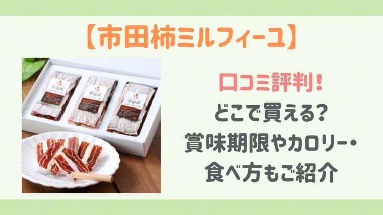 市田柿ミルフィーユ